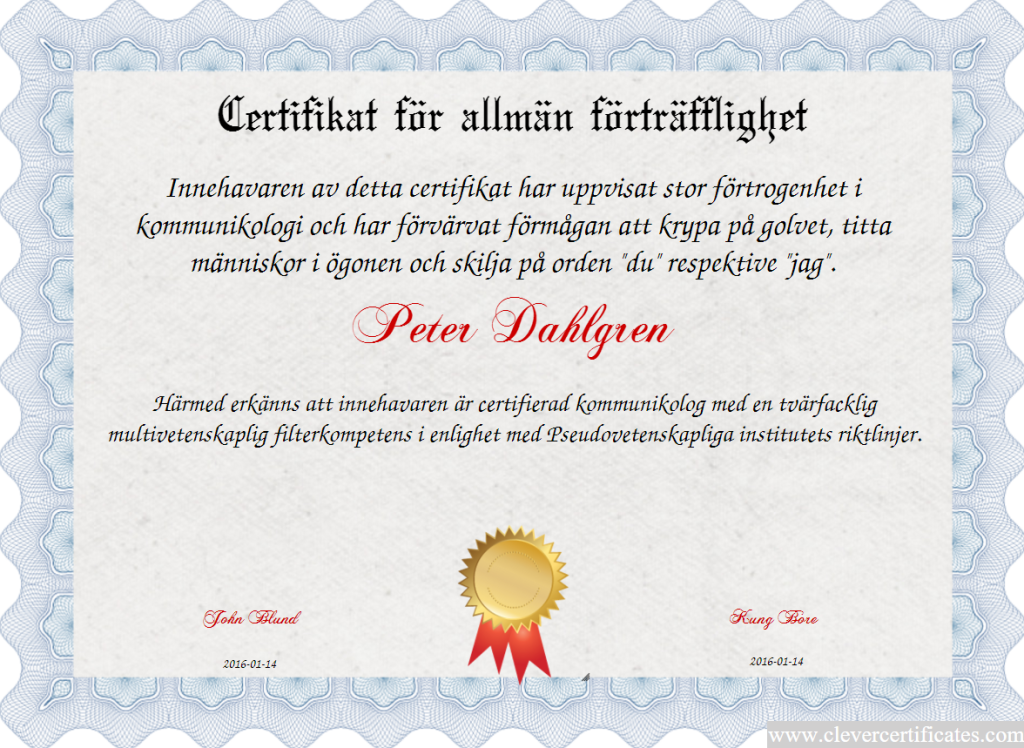 kommunikologi certifiering